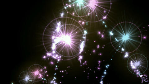 jet fireworks and dazzling stars halo,fire,missiles being... Stock Video Footage