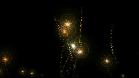stars halo and jet fireworks,fire particles,missiles... Stock Video Footage