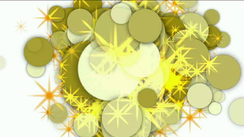 circle and bubble with flare stars Stock Video Footage
