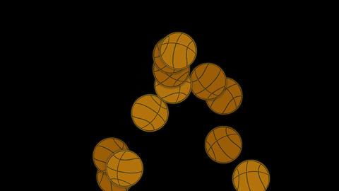 falling basketballs Stock Video Footage