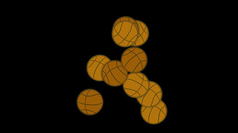falling basketballs Stock Video Footage