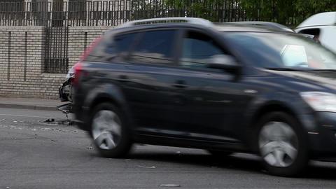 Citroen SUV Crash Stock Video Footage