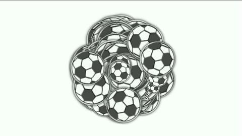 football,sports balls Stock Video Footage