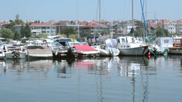 BOATS AT THE DOCK Stock Video Footage