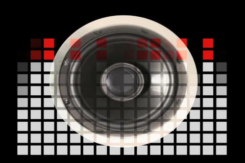 Sound Speaker & VU Meter Stock Video Footage
