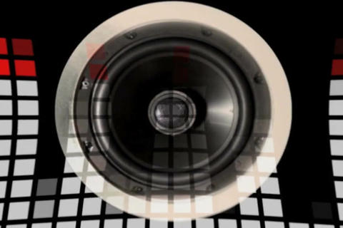 Sound Speaker & VU Meter Distorted Stock Video Footage