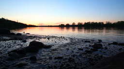 Sunset on River Stock Video Footage