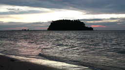 Sunset Over Andaman Sea Stock Video Footage