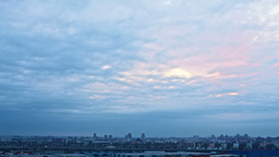 Sunset Over City, Timelapse Stock Video Footage