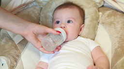 Baby Drink Water Stock Video Footage
