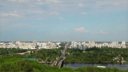 Bridge Across the Dnieper Stock Video Footage