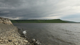 Dniester at Stormy Weather Stock Video Footage
