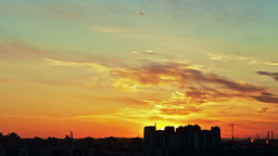 Sunrise Over City, Timelapse Stock Video Footage