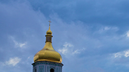 Saint Sophia Cathedral In Kiev, Timelapse Stock Video Footage