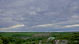 Kamianets-Podilskyi Castle, Timelapse Stock Video Footage
