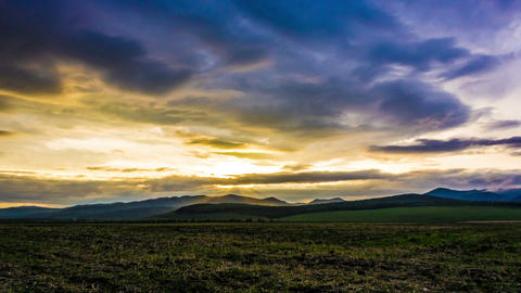 Beautiful timelapse of sunset in countryside Footage