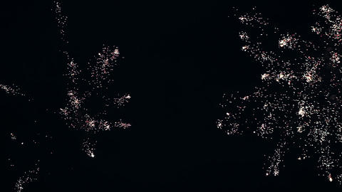 Colorful fireworks over night sky Stock Video Footage