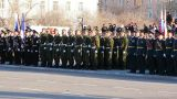 The Parade In Honor Of Victory Day stock footage