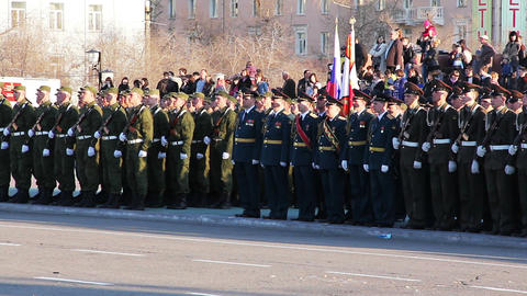 The parade in honor of Victory Day Stock Video Footage