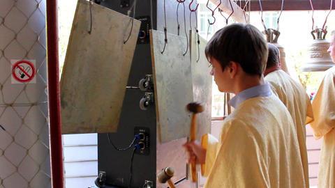 Church bells 1 Stock Video Footage