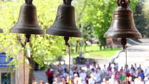 Church bells 3 Stock Video Footage