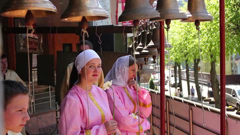 Church bells 5 Stock Video Footage