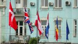 Flags stock footage