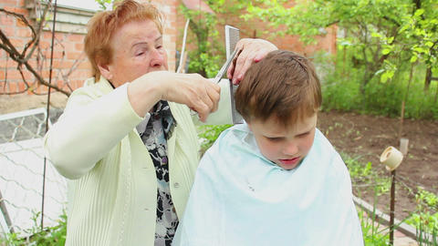 Haircut 7 Stock Video Footage