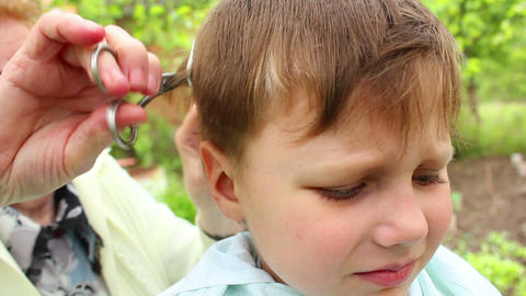 Haircut 9 Stock Video Footage