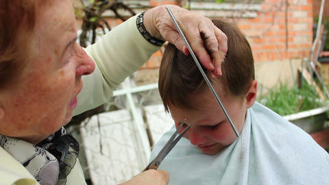Haircut 13 Stock Video Footage