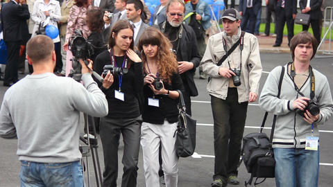 Photographer at work 5 Stock Video Footage