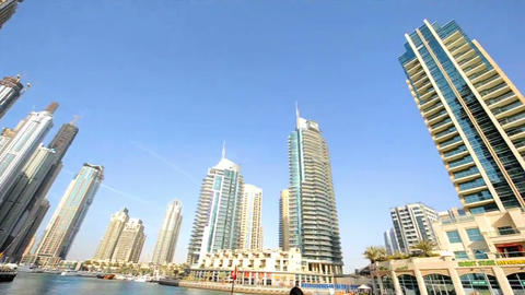 Bildings in Emirates 2 Stock Video Footage