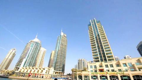 Bildings in Emirates 2 Stock Video Footage
