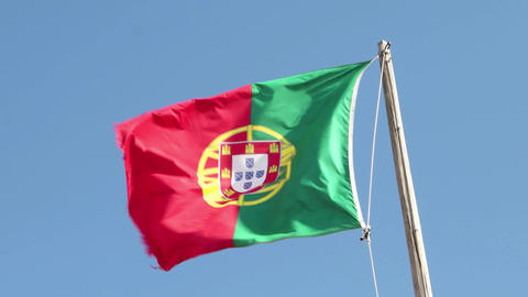 Portugal Flag Footage
