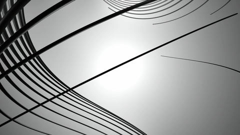metallic black lines Animation
