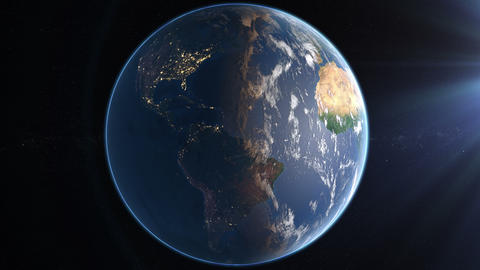 Rotating Earth 4K - Day And Night Animation
