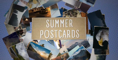 Summer Postcards Slideshow After Effects Template