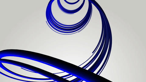 blue helix strokes Animation