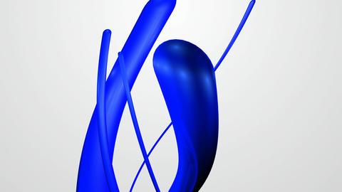 glowing blue stroke Animation