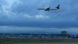 Frankfurt Airport, early morning Footage