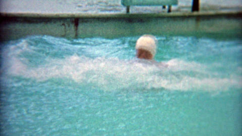 1964: Hilarious indoor pool slide that reaches top of motel ceiling Footage
