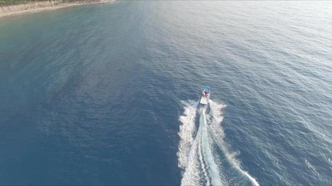 Parasailing Boat In Turkish Mediterrenean stock footage