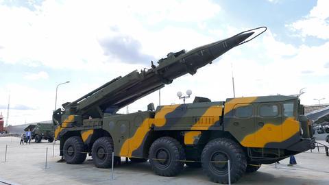 Self-loading launcher 'Elbrus'. (P-17 SS-1c Scud B) Ekaterinburg, Russia Footage