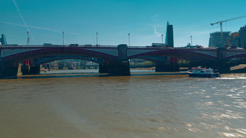 Nonstop POV Hyperlapse of a Boat Trip in the River Thames, London, UK Footage