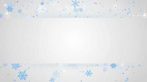 white banner and snowfall seamless loop background 4k (4096x2304) Animation