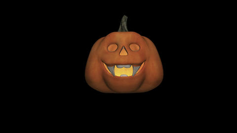 Halloween Pumpkin - Dancing - II - Loop - Alpha stock footage