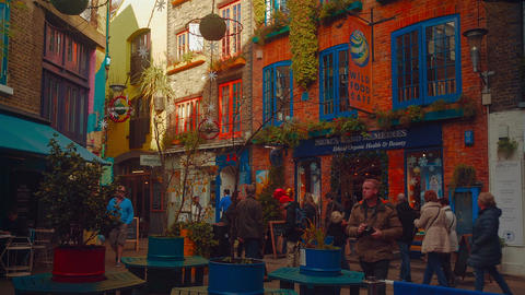 Timelapse View Of Neal's Yard In London stock footage