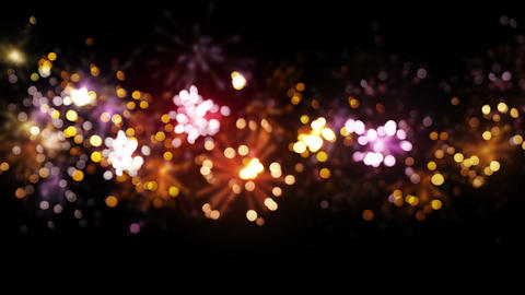 blurred fireworks seamless loop background 4k (4096x2304) Animation