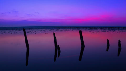 Immediately After Sunset. Time Lapse 4K stock footage