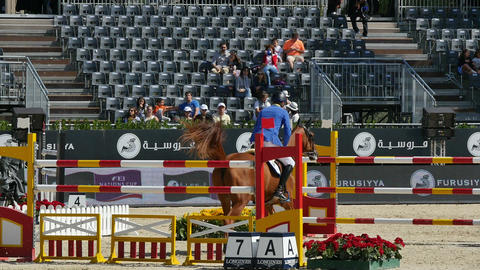 International Jumping Competition in Barcelona Footage